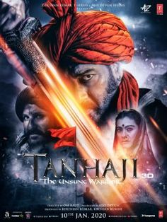 Tanhaji The Unsung Warrior 2020 IMDB Rating: Directed: Om Raut Released Date: 10 January 2020 Types: Action ,Biography ,Drama Film Stars: Ajay Devgn, Saif Ali Khan, Kajol Movie Quality:… Latest Hindi Movies, Latest Bollywood Movies, Hindi Movies Online, Movies To Watch Hindi, Film Watch, Movies To Watch Online, Films Hd, Comedy Movies, Hindi Movie Film