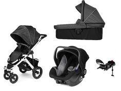 Brio Smile Black/charcoal grey inkl, liggdel babyskydd grå/svart och bas
