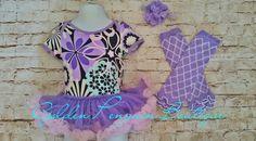 Purple Onesie Legwarmer Headband Set Tutu Onesie  by goldenpenguin