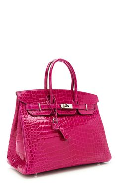 35Cm #Hermes Rose Scheherazade Shiny Porosus Crocodile Birkin by Heritage Auctions Special Collections for Preorder on Moda Operandi