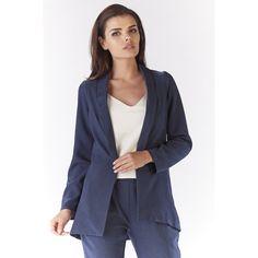Sacou dama usor asimetric bleumarin Mens Designer Brands, Online Fashion Stores, Blazer, Casual, Model, Jackets, Clothes, Polyester, Products