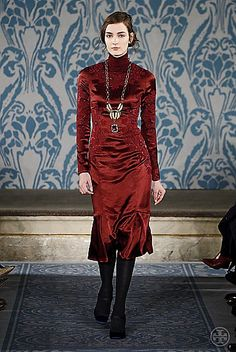 Tory Burch Fall 2013 #ToryFall13  perfect dress. this how i imagine natasha of war and peace.