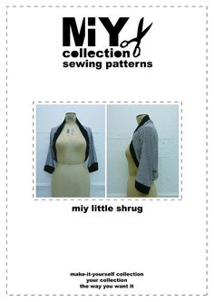 Draped front cardigan sewing pattern for jersey by MIYcollection