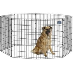 """MidWest Foldable Metal Exercise Pen / Pet Playpen, 24""""W x 36""""H -- Want to know more, click on the image. (This is an affiliate link) #DoorsGatesRamps"""