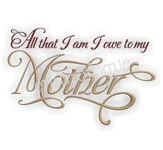 All I Am Mother - 3 Sizes! | Featured Products | Machine Embroidery Designs | SWAKembroidery.com Embroitique