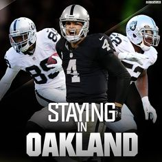 At least for now, The Oakland Raiders are staying put. 1/12/2016