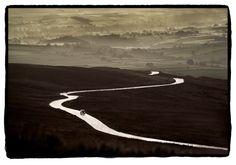 Dan Burkholder, Dan Burkholder Road on Moor, Scotland.