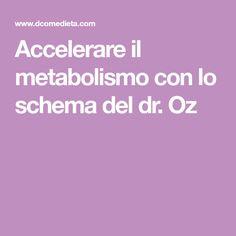 Accelerare il metabolismo con lo schema del dr. Oz