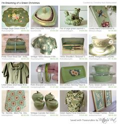 I'm Dreaming of a Green Christmas. Vintage Christmas gift ideas!
