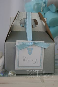 Cute baby shower favor boxes
