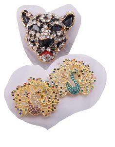 Crystal Rhinestone Peacock Leopard Bracelet Connector Pendant Charm Bead   eBay