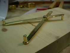 Self-Centering Calipers by Christophe Mineau -- I have already showed some pictures of this one, but as I have written an article on my site about it and to show my personal touch on this tool, here is my version of . My personal touch is the simple 1mm hole for the scribing end. Rick does not give too much details on how the scribe is actually made in his article. As well, in my article, I describe the theory around this great tool, and describe my process to build it accurately. In...