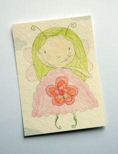 Fairy Watercolour ACEO OOAK Original Art card by JuliaPeculiar