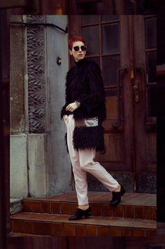 Beeswonderland: Black faux fur coat on beeswonderland.com