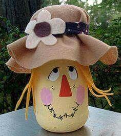 spaghetti sauce jar and modge podge tissue paper Mais Autumn Crafts, Thanksgiving Crafts, Holiday Crafts, Holiday Decor, Wine Bottle Crafts, Jar Crafts, Diy And Crafts, Wine Bottles, Decor Crafts