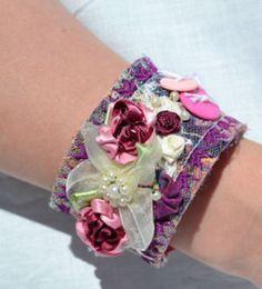 fabric cuff Jewelery, Studio, Fabric, Jewelry, Tejido, Jewels, Tela, Bijoux, Schmuck