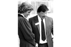 guest: Princess Diana talks to Simon Weston during her visit to the Falcon factory