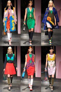 Milan Fashion Week spring/summer 2014 round-up Summer 2014, Spring Summer, Spring 2014, Prada Spring, Miuccia Prada, Sports Luxe, Arte Pop, Runway Fashion, Milan Fashion
