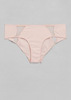 & Other Stories | Mesh Detail Hotpants | Pink