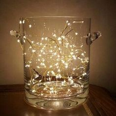 Lighted Centerpieces, Centerpiece Decorations, Wedding Centerpieces, Ceremony Decorations, Light Decorations, Mason Jar Crafts, Mason Jars, Diy Mason Jar Lights, Vase With Lights