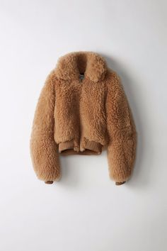 Acne Studios' Linne Bomber Provides Cozy Appeal With Fluffy Shearling Teddy Bear Jacket, Bear Coat, Fur Jacket, Bomber Jacket, Fur Coat Outfit, Stockholm Street Style, Paris Street, Zara, Milan Fashion Weeks