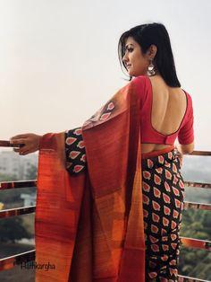 Handloom love #tussar silk sari @hathkargha