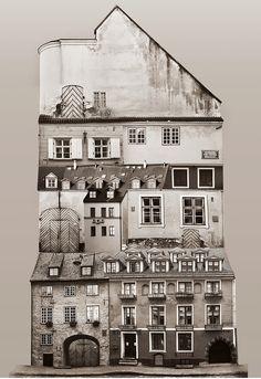 Surreal Architecture Collages by Anastasia Savinova.