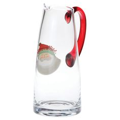 VIETRI Old St. Nick Glass Pitcher | Add to your festive Old St. Nick drinkware this holiday season with the Old St. Nick Glass Pitcher. #holidays #festive
