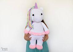 Patrón de Crochet en Inglés Betsy el Gran Unicornio 55