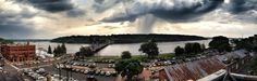 Storm clouds over Wisconsin as viewed from Stillwater, Minnesota