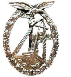 Seekampfabzeichen der Luftwaffe 1944 Luftwaffe, World War Ii, Ww2, Badge, Awards, Patches, German, Iron, Military