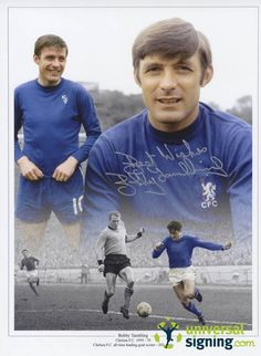 View Bobby Tambling Signed 16x12 Chelsea Photo