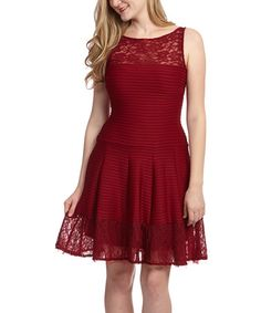 Another great find on #zulily! Garnet Pinstripe Drop-Waist Dress by Danny & Nicole #zulilyfinds