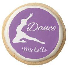 DANCE custom monogram & color cookies