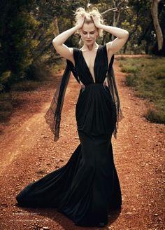 Nicole Kidman #nicolekidman #blackdress