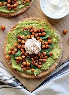 Simply Avocado and Toasted Chickpea Pitas