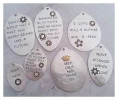 HAS ETSY SHOP - Image of Custom Vintage Spoon Necklace - You Choose Your Own Words