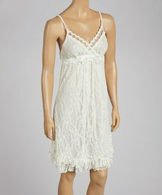 Loving this Ivory Lace Dress on #zulily! #zulilyfinds