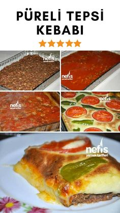 How to make Pureed Tray Kebab Recipe? people in the book with a description of the Pureed Tray Kebab Recipe and the photo of the experimenters . Kebab Recipes, Lunch Recipes, Turkish Recipes, Ethnic Recipes, Turkish Kitchen, Falafels, Breakfast Toast, Iftar, Vegan Vegetarian