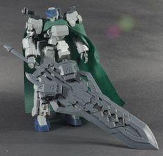 Kotobukiya Frame Arms: Type 32 Model5R-Ex Zen-Rai with Assault Unit and Buster Sword Aramament Frame Arms, Gundam Art, Custom Gundam, Diorama, Custom Framing, Sword, Robot, Action Figures, Sci Fi