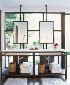 Modern Master Bathroom, Courtesy:  Veranda Magazine