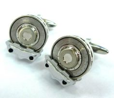"""Three-dimensional Disk Brakes Racing Car Automobile Cufflinks Cuff Links Silver Smith. $44.88. Free Gift Wrapping with each order!. Comes packaged in a Limited Edition Collectors Storage Box!. Approximately 3/4"""" x 1/2"""" Automotive Engineering, Automobile Industry, Three Dimensional, Cufflinks, Racing, Silver, Man Jewelry, Gifts, Brake Parts"""