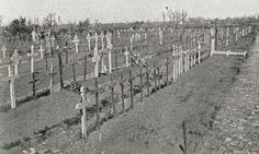 Ypres Reservoir Cemetery in 1919. Reservoir Cemetery just after the War.