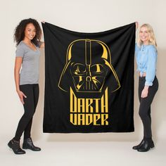 Gold Reflect Darth Vader Name Graphic Fleece Blanket #star #wars #darth #vader #helmet #FleeceBlanket