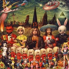 "Mark Ryden parody of Rolling Stones album cover, Their Satanic Majesties Request"""