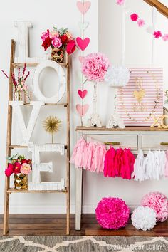 This pretty-in-pink space will give you all the heart flutters!