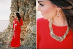 Dallas Maternity Session by Nicole Berrett Photography, featured on The Fount Collective, http://thefountcollective.com  Red Maternity Dress, Red Maternity Gown