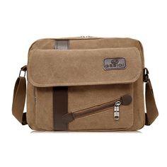 Men's Canvas Crossbody Bag //Price: $25.50 & FREE Shipping //     #backpack Canvas Crossbody Bag, Casual Bags, Vintage Men, Satchel, Backpacks, Shoulder Bag, Men's Bags, Free Shipping, Jewelries