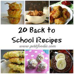back to school recipes 2015 #backtoschool #recipes #petitfoodie