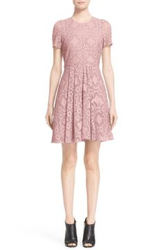 Burberry London Velma Short Sleeve Lace Fit & Flare Dress $717.75 (was…